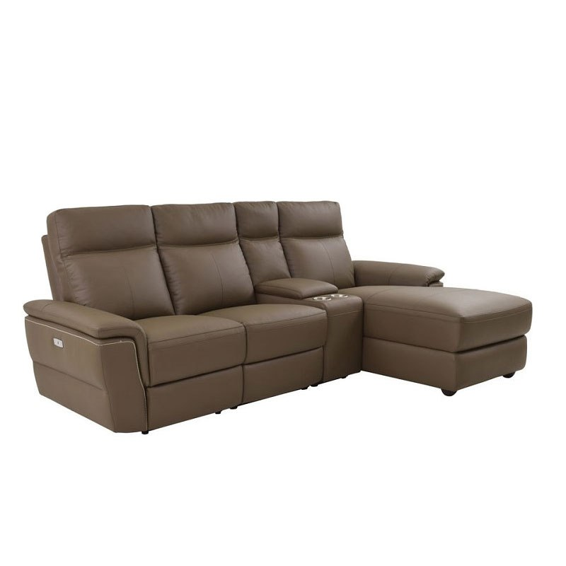 Olympia Small Modular Reclining Sectional Homelegance