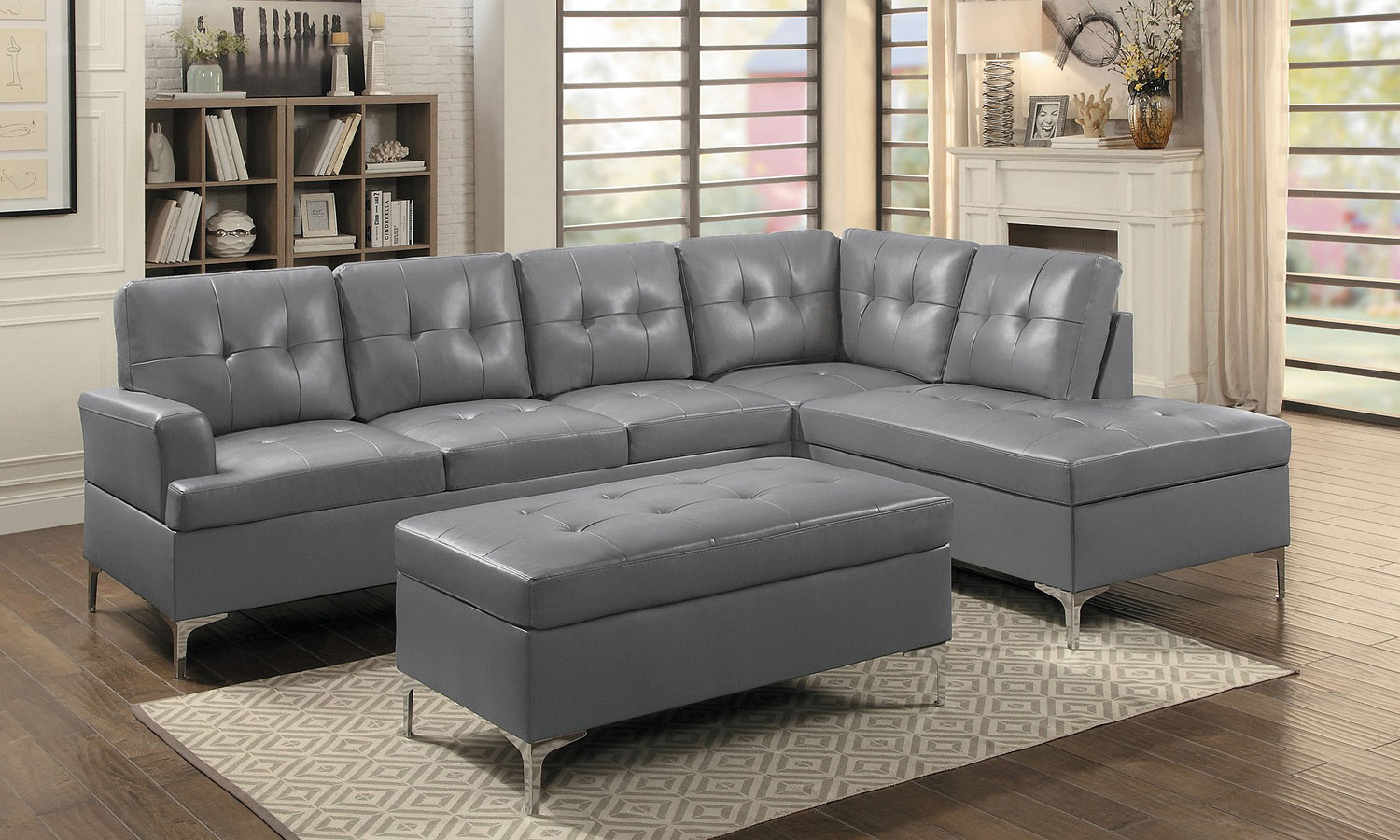 Barrington Sectional Set Gray