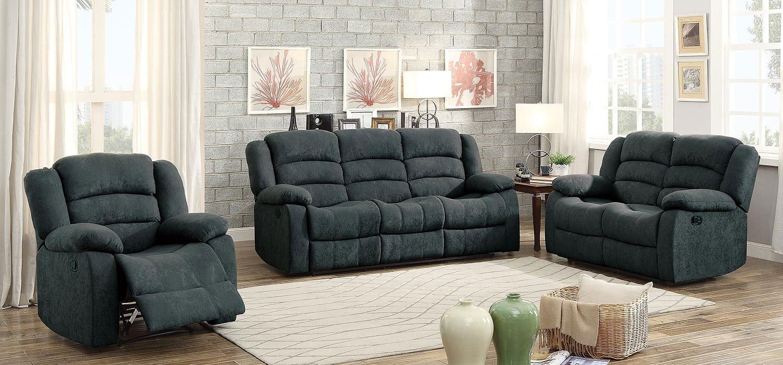 Image of: Greenville Reclining Living Room Set Blue Grey Homelegance 1 Reviews Furniture Cart