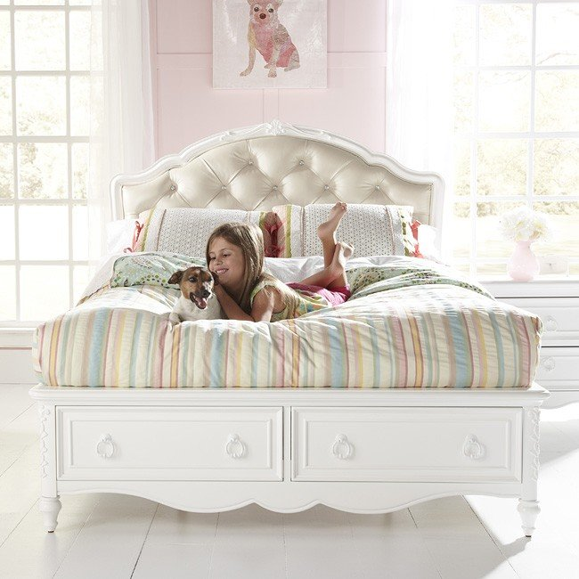 Sweetheart Princess Bed W Storage Samuel Lawrence