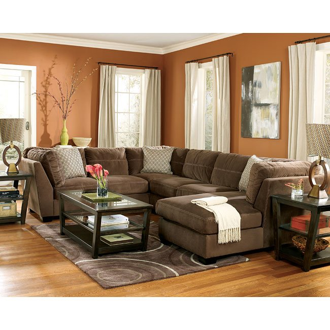 Peyton - Espresso Sectional Living Room Set Signature Design By ...