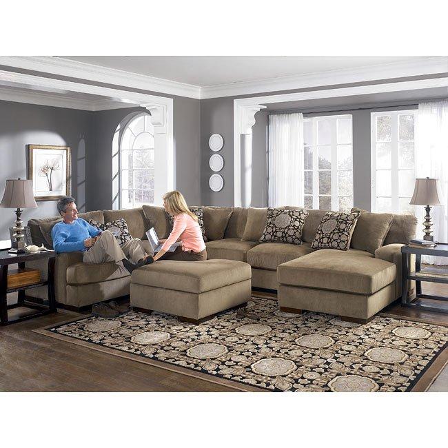 grenada  mocha large sectional living room set millennium