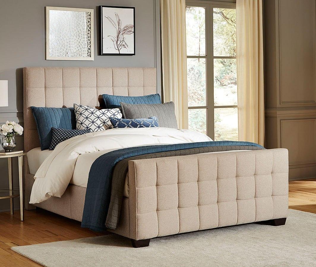 Altura Sand Upholstered Bedroom Set Standard Furniture