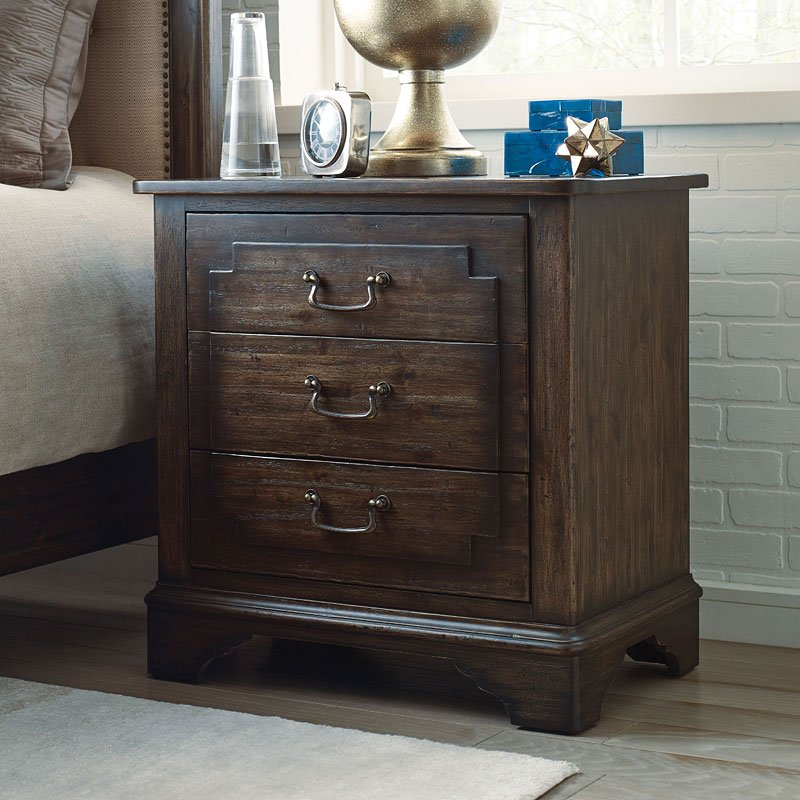 75568159502e37 Wildfire Tweed Panel Bed. Wildfire Nightstand by Kincaid Furniture