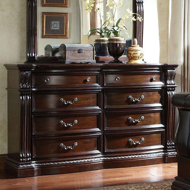 churchill upholstered bedroom set standard furniture furniture cart. Black Bedroom Furniture Sets. Home Design Ideas
