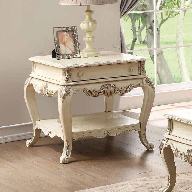 Ragenardus End Table (Antique White)