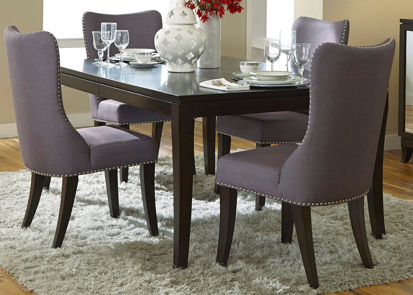 Grey Dining Room Chairs: Platinum Dining Room Set W/ Grey Chairs Liberty Furniture