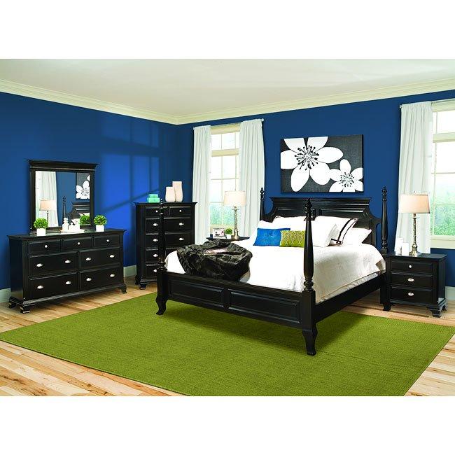 best website 078aa c89d4 Chelsea Ebony Poster Bedroom Set