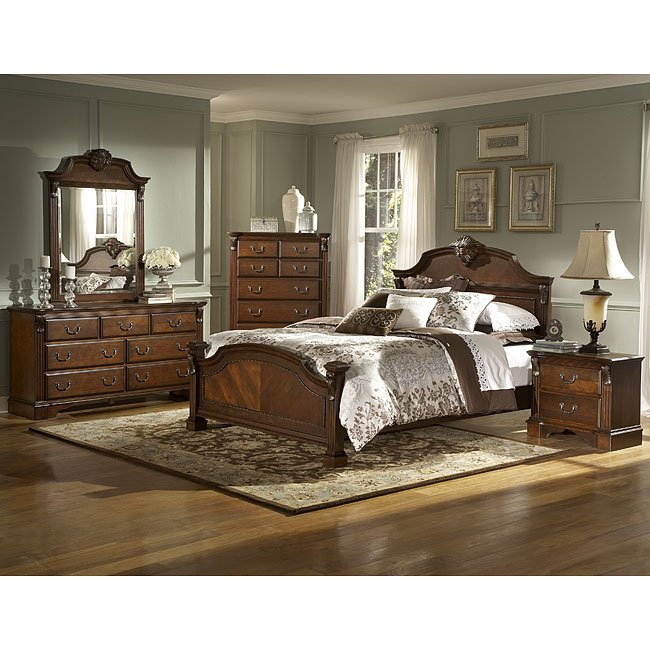 Legacy Panel Bedroom Set Brown Cherry