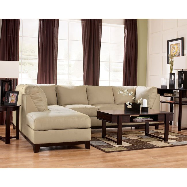 Fusion - Khaki Sectional Living Room Set