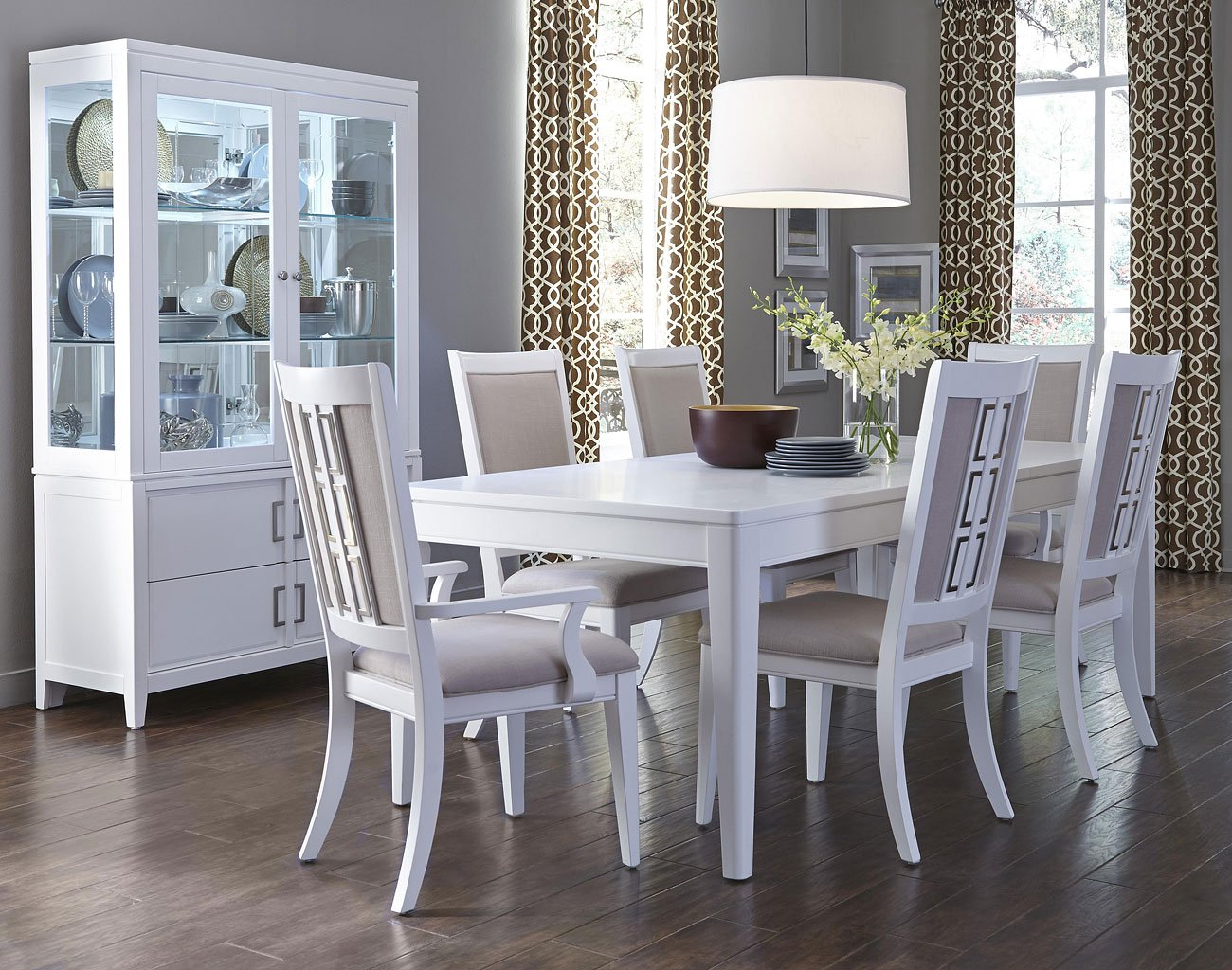 Brighton White Dining Room Set