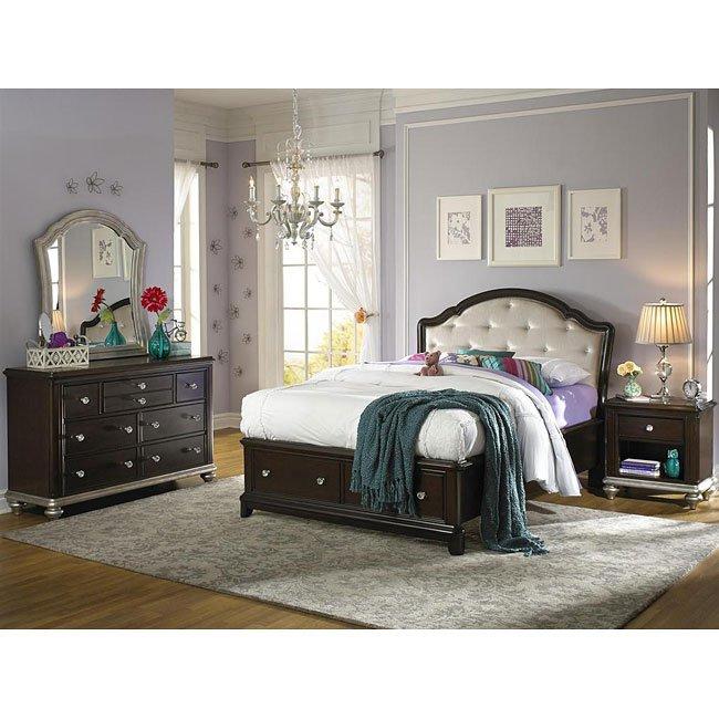 Girls Glam Storage Bedroom Set