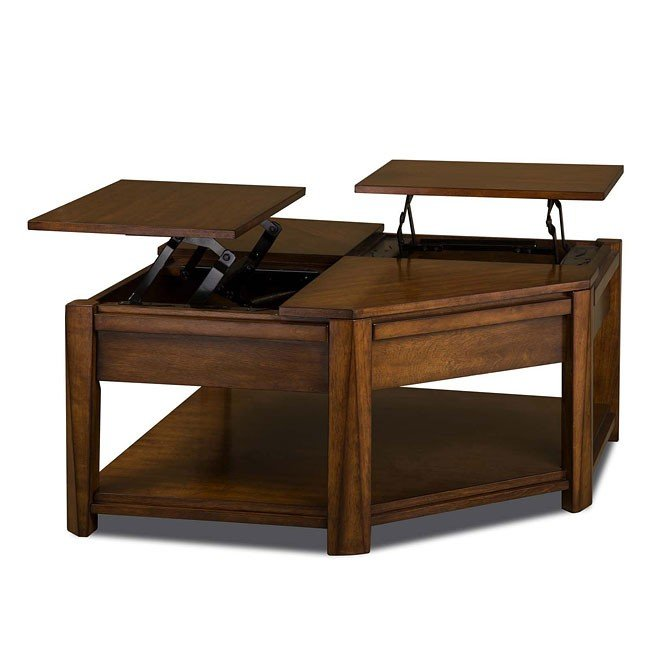 Series Double Lift Top Cocktail Table Catnapper Furniture Cart - Double lift top cocktail table