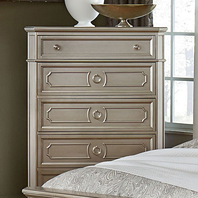 windsor panel bedroom set (silver) standard furniture