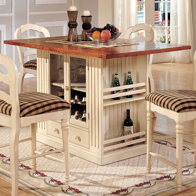 Islands Dining Room: Linden Counter Height Island Cramco