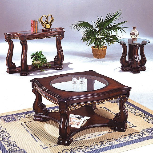Nailhead Occasional Table Set