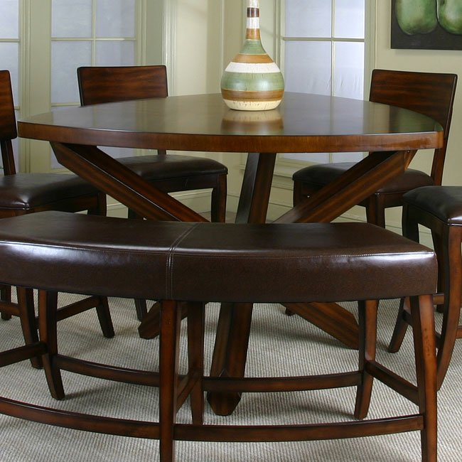 Dining Room Bar Kitchen Furniture: Shiraz Triangle Counter Height Dining Table Cramco