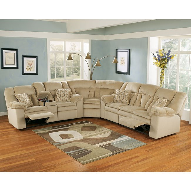 Avalanche - Sandstone Reclining Sectional