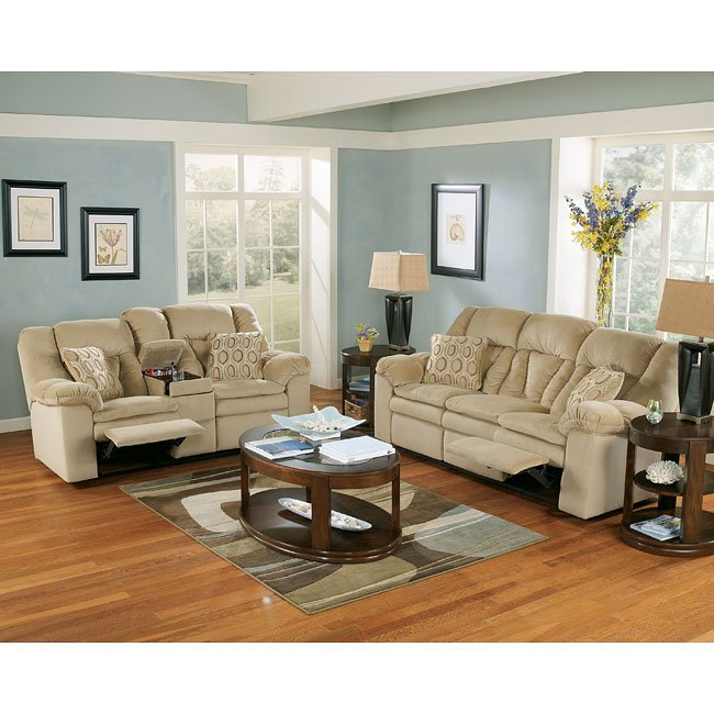 Sandstone Reclining Living Room Set Signature