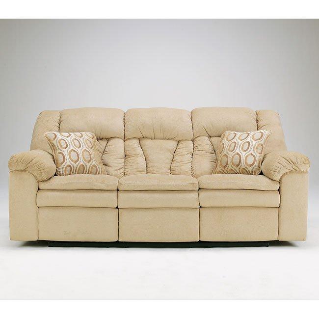 Avalanche - Sandstone Reclining Sofa