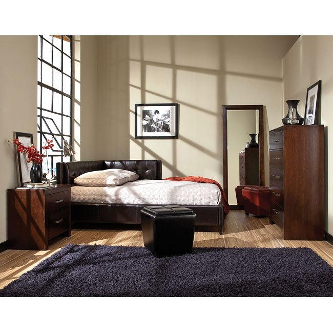 Metro Bedroom Set W/ Rochester Corner Bed Standard Furniture ...