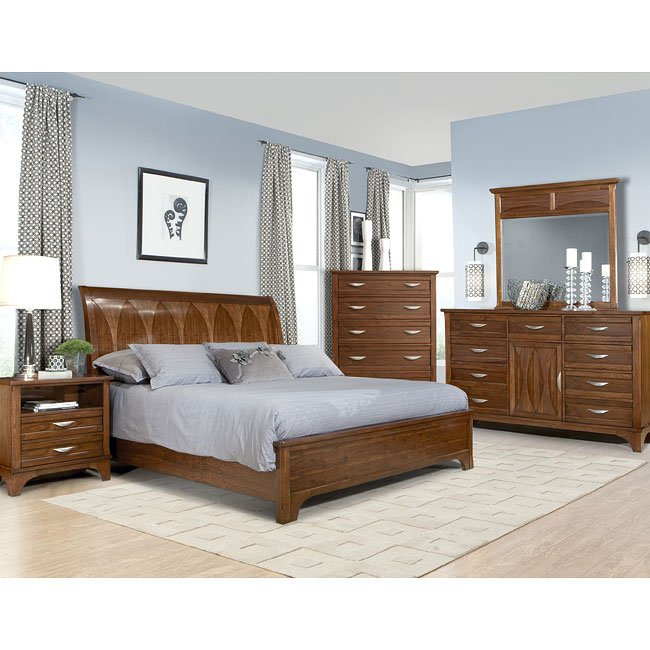 Radiance Sleigh Bedroom Set