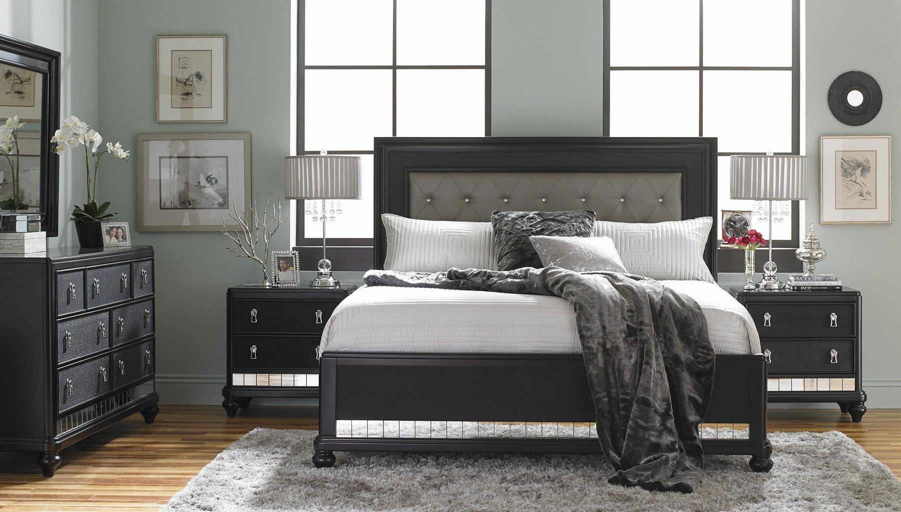 Diva Midnight Panel Bedroom Set