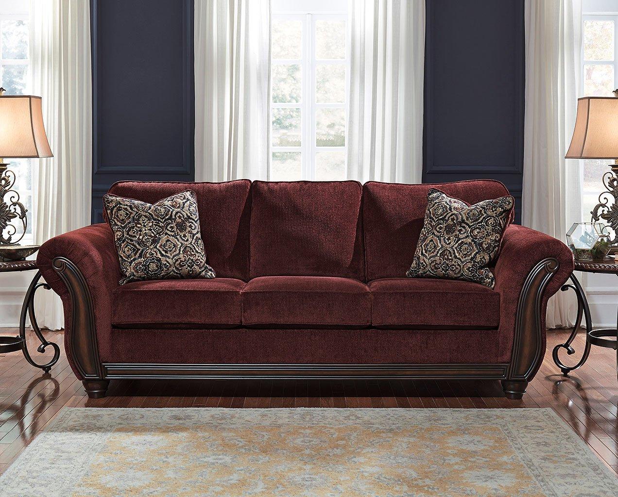 Charmant Chesterbrook Burgundy Sofa