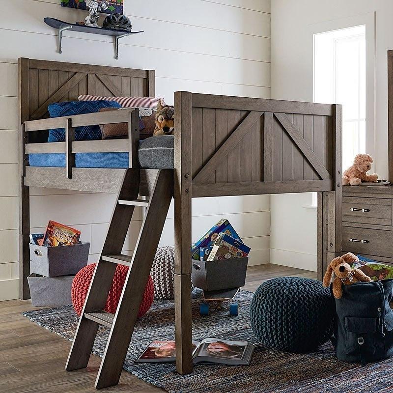 Bunkhouse Mid Loft Bed Legacy Classic Kids Furniture Cart