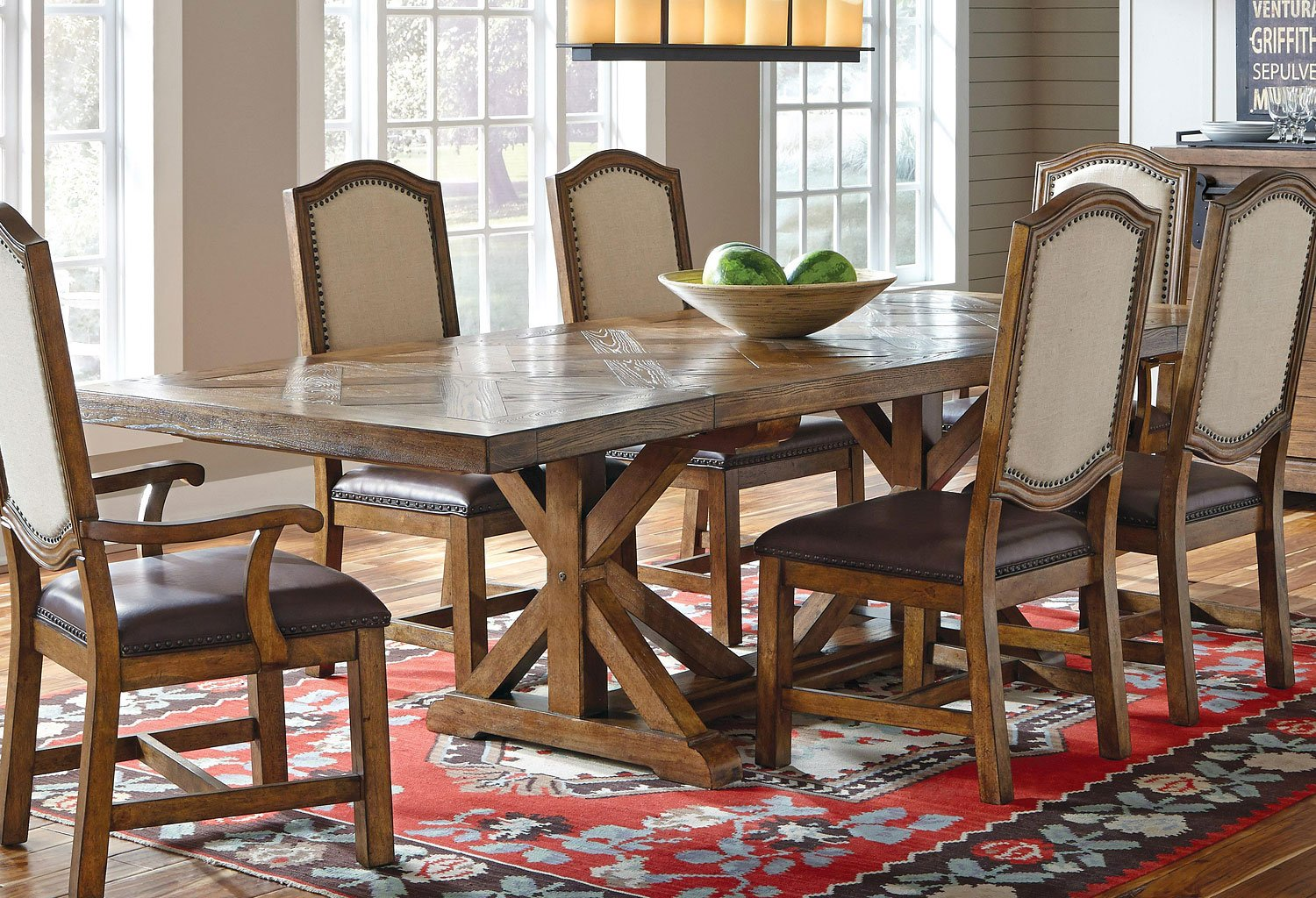American Attitude X-Pattern Saw Horse Dining Table