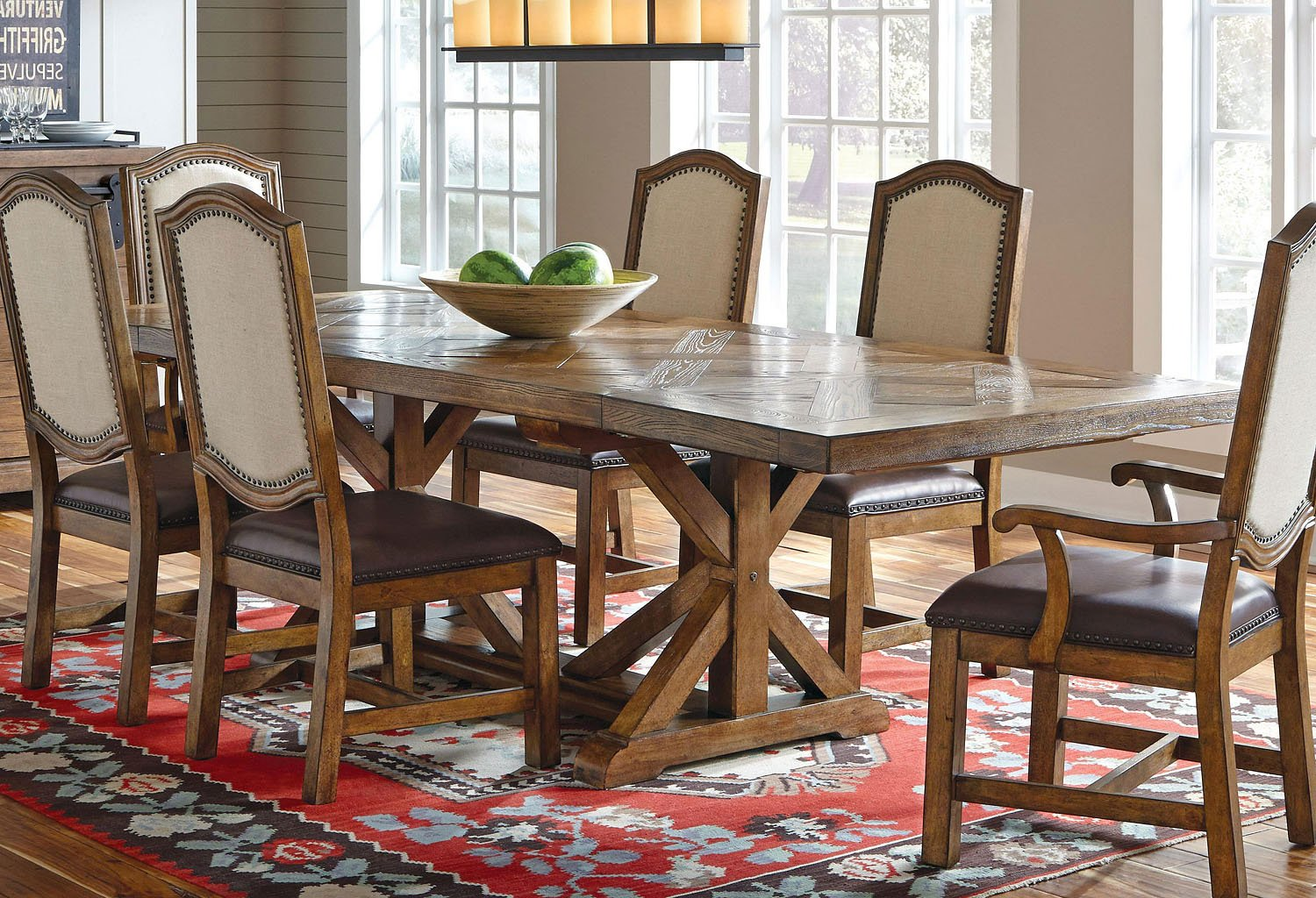 Beau American Attitude Cross Hatch Saw Horse Dining Table