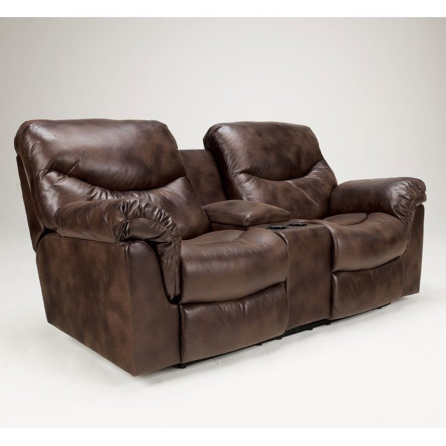 Frontier Canyon Double Reclining Loveseat W Console