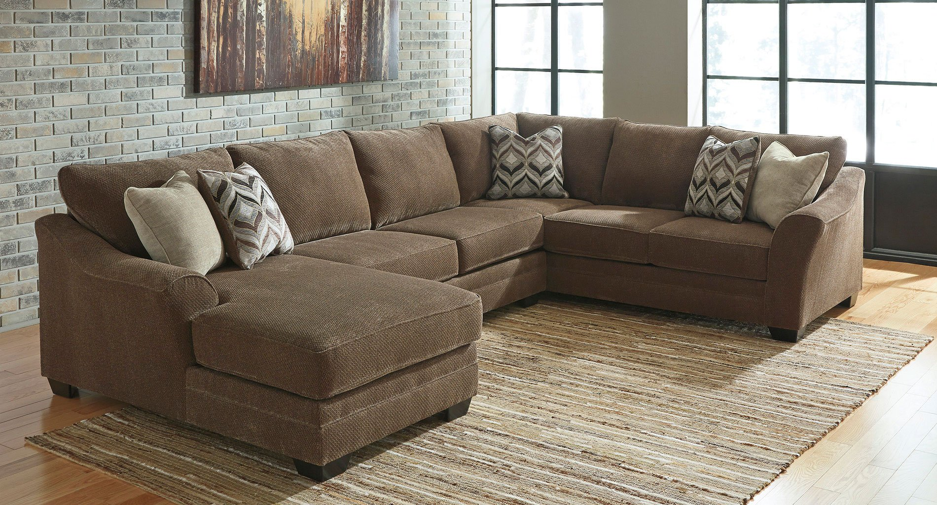 Justyna Teak Left Chaise Sectional Signature Design By