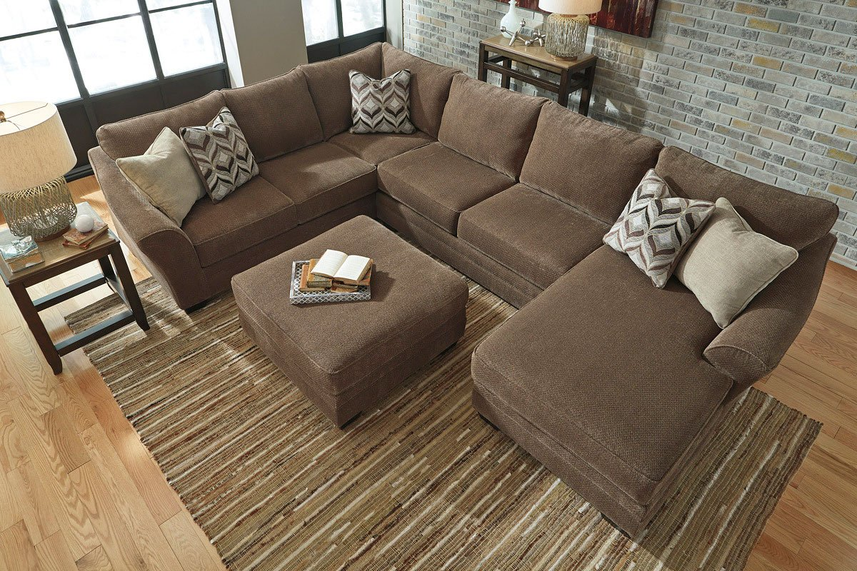 Justyna Teak Right Chaise Sectional Signature Design By