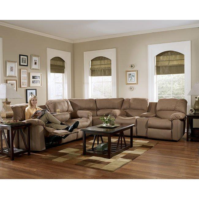 Eli - Cocoa Reclining Sectional Living Room Set