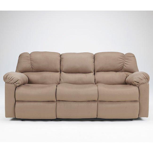 Eli - Cocoa Reclining Sofa w/ Drop Down Table