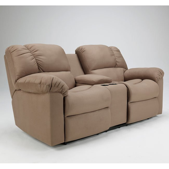 Eli - Cocoa Double Reclining Loveseat w/ Console