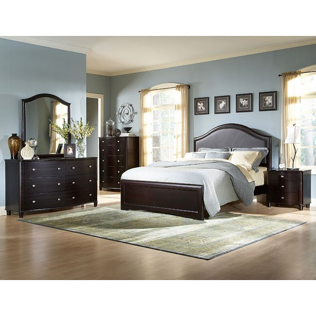 Baxter Panel Bedroom Set Homelegance Furniture Cart