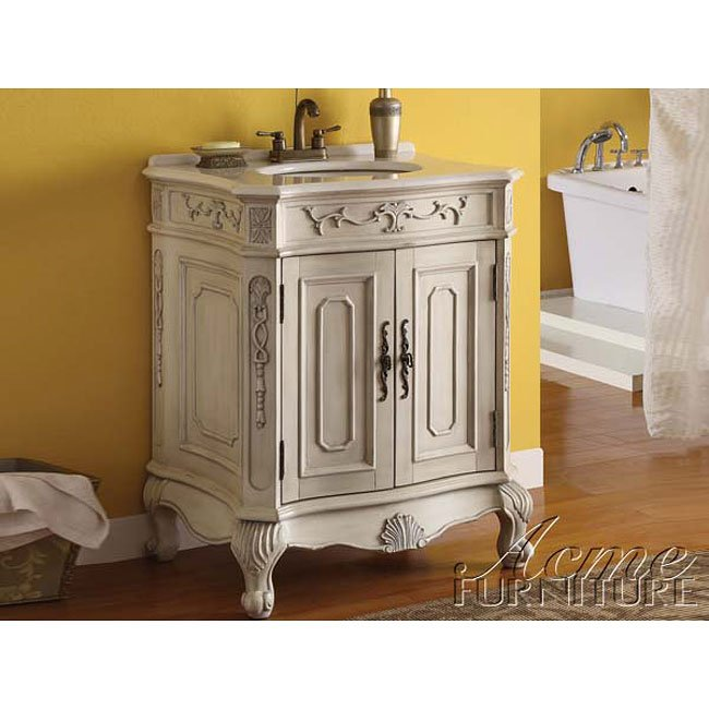 Verena White Sink w/ White Marble Top