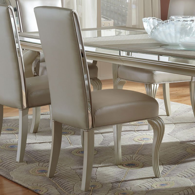 Hollywood Loft Dining Room Set Frost Aico Furniture