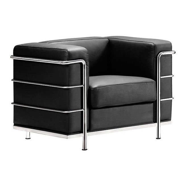 Fortress Leather Living Room Set Black Zuo Modern