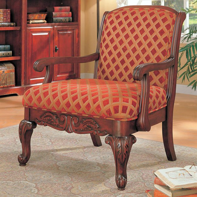 Traditional Upholstered Accent Chair