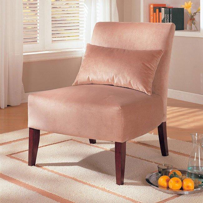 Velvet Upholstered Lounge Chair (Taupe)
