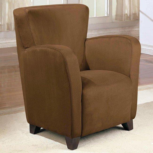 Upholstered High Back Chair (Mocha)