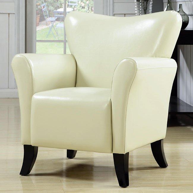 Contemporary Vinyl Chair (Cream)