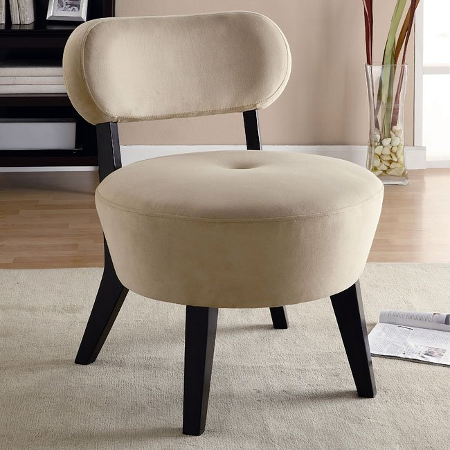 Microfiber Accent Chair (Cream)