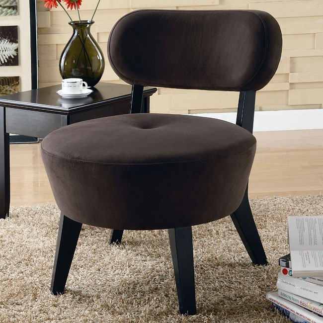 Microfiber Accent Chair (Mocha)