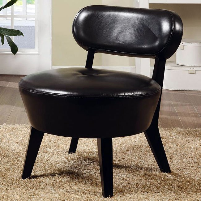 Bonded Leather Accent Chair (Dark Brown)