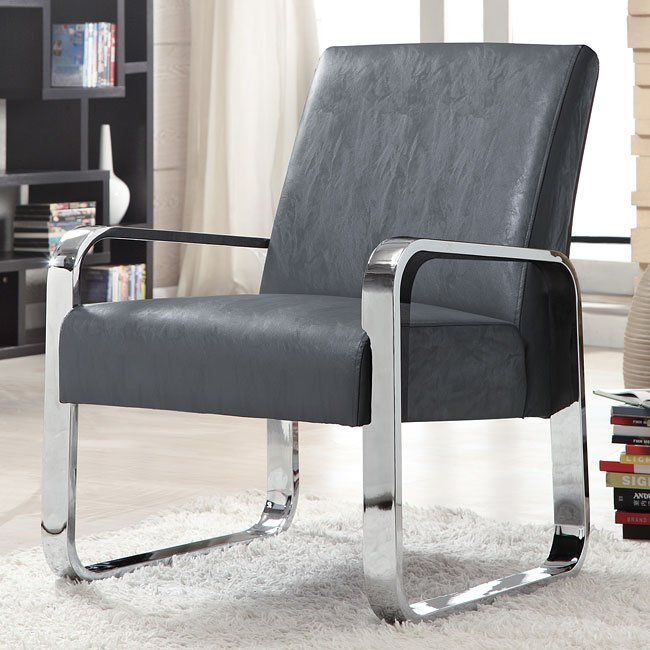 & Ultra Modern Accent Chair (Gray) Coaster Furniture | Furniture Cart