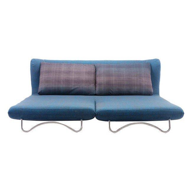 Awe Inspiring Conic Sleeper Sofa Cowboy Blue And Shadow Grid Camellatalisay Diy Chair Ideas Camellatalisaycom